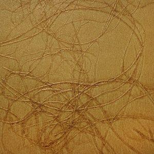 Palha Natural com Linhas Douradas e Brilho - V6840