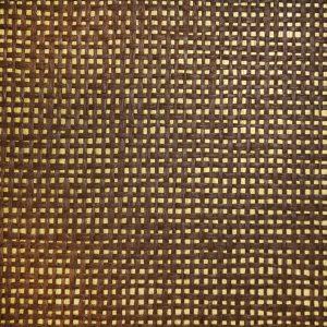 Palha Natural Marrom com fundo dourado - V6854
