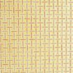 Palha Natural Quadriculada e Dourada - P581