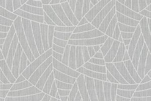 papel de parede com folhagem abstrato, na cor cinza- Ref: 5427-10