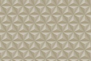 Papel de Parede Geométrico Cinza e Bege - 3130