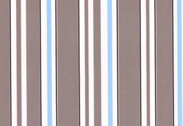 Papel de Parede Listrado Marrom e Azul