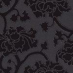 Papel de Parede Floral Preto - 03862-10