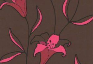 Papel de Parede Flores Rosa e Marrom