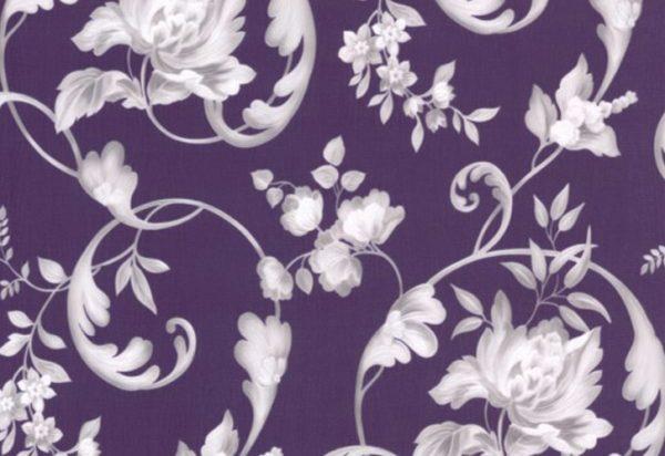 Papel de Parede Arabesco Floral Roxo - 40006-80