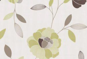 Papel de parede floral verde claro - 40009-30