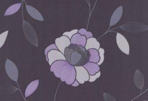 Papel de Parede Floral Roxo - 40009-50