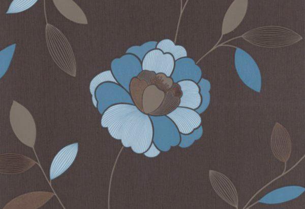 Papel de Parede Floral Azul - 40009-60