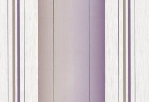 Papel de Parede Listrado de gradê marrom e lilás