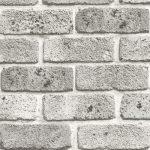 Papel de Parede Tijolinho Branco - 4150