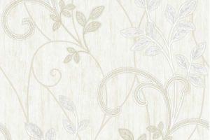 Papel de Parede Floral Creme - AMB16541