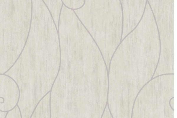Papel de Parede Cinza Claro e Lilás - AMB16553