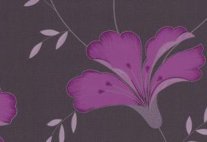 Papel de Parede Marrom Floral - 42066-10
